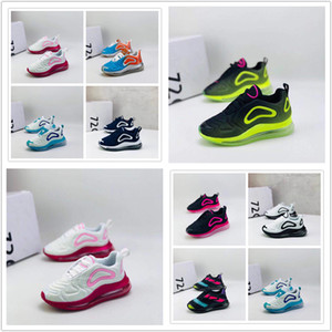 Infant 72C Almofada Casual Shoes Jogging Breathabe Shoes Triplo Carbon Black Correndo ShoesYoung Crianças BoysGirls Leisure Sports Sneakers