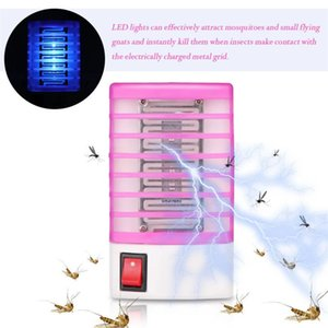 220V Home LED prático Bug tomada elétrica Mosquito Repelente Fly Insect Killer Night Trap Lamp Zapper Rodent Repeller DHA140