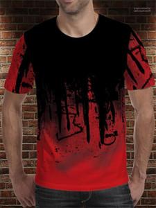 남자 t- 셔츠 디자이너 여름 Hemme 인쇄 3D 통기성 천 패션 캐주얼 티셔츠 예술 Panit 땀 흡수