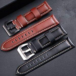FUYIJIA 2019 Nouvelle boucle ardillon de ceinture montre en cuir brillant tête watchbands couche montre la bande de 20 mm vachette ~ bracelet 26mm accessoires montre Y200414