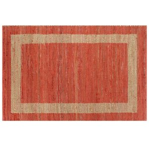 Carpet handmade Jute Red 160x230 cm Wall Stickers