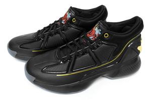 상자 D ROSE (10) 캐주얼 스니커즈 블랙 NWT 2020 D 로즈 (10) 데릭 CNY MVP 블랙 골드 꽃 남자 농구 신발