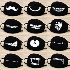 Polvo de algodón Máscara Dientes Expresión de dibujos animados de la máscara facial del respirador mufla Chanyeol anti Kpop oso Boca