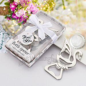 20PCS Swan Bottle Opener Favores de la boda Regalos de fiesta Cumpleaños Despedida de soltera Evento Aniversario Suministros