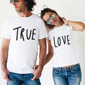 Tshirt Couple Shirt Hommes T Shirt Femmes Chemises True Love Harajuku T-shirts Tops En Coton T-shirt Plus La Taille XS-3XL Cadeau Petit Ami