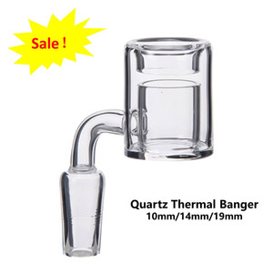 Quartz Thermal Banger Nail With Flat Top Double Tube Male Female 100% Quartz Nail For Water Pipe Dab Oil Rig Glass Bongs