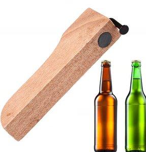 Bouteille de bière ouvre avec poignée en bois Clou Bouteille de maison Ouvre couvercle Remover de cuisine Bar cloueuse Bouteille de vin bière ouvre KKA7734