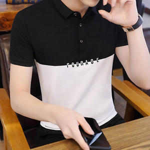 Luxury designer fashion classic men's bee striped embroidery shirt cotton mens designer T-shirt white black designer polo shirt male t6