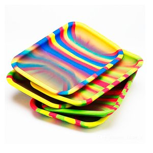 2019 Silicone Tobacco Tray For Rolling Papers Square Size 20cm* 15cm*2cm Smoking Storage Tray Handroller Roll Trays Herbs Grinder