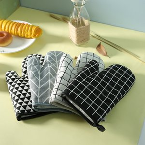 Mutfak DHF1241 Bake Açık Barbekü Izgara Kullanım Koruyucu Eldiven Pişirme için Isıya Dayanıklı barbekü Eldiven Kalın Mikrodalga Fırın Eldiven