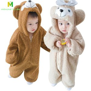 2019 Infant Romper Baby Boys Girls Jumpsuit New born Bebe Clothing Hooded Toddler Baby Clothes Cute bear Romper Baby Costumes
