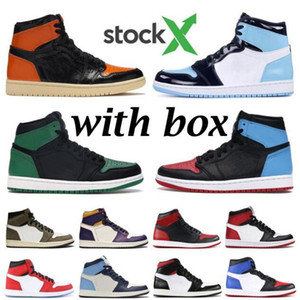 La venta 2020 nuevos zapatos de alta OG 1 GS Chicago baloncesto baratos Retroes Negro Rosa Bred dedo del pie UNC Azul Blanco Hombres Mujeres 1s zapato Turbo V2
