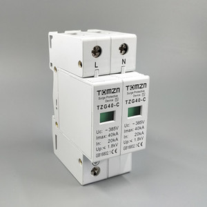 Circuit Breakers AC SPD 1P+N 20KA~40KA C ~385V House Surge Protective Protection