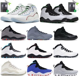 New Mens Basketball Shoes 10s Jumpman Athletic Sneakers Chicago Steel Wings Seattle Cool grey designer Trainer with StockX 40-47