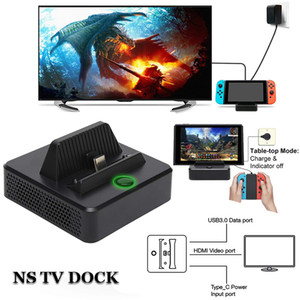 Switch hdmi video conversion base switch portable TV base converter switch original adapter or standard type_c power supply