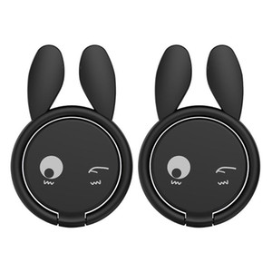 2pcs / set Cell Phone Ring Holder Durable With Lachesive Tape Round Office Universal Magnetic Car Interior Zinc Alloy