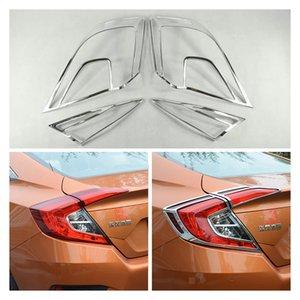 4 adet Arka Kuyruk Işık Lambası Çerçevesi Garnitür Honda Civic 2016-2017 Için Kapak Trimler