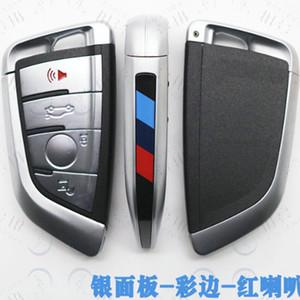 4 Botón de tarjetas inteligentes llave del coche del caso de Shell para BMW Serie 7 1 2 X1 X5 X6 x5m x6m F Clase alejado de la llave Fob cubierta plaquita de corte