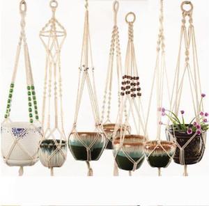 Pot Hanger 100% Handmade Macrame Plant Hanger Flower Pot Hanger for Wall Decoration Countyard Garden Decorations Hot Sale