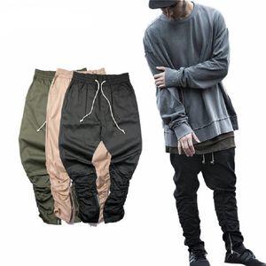 erkekler ince uygun gündelik erkek hip hop jogging yapan motorcu pantolon eşofman sıska pantolon fermuarı Justin Bieber tarafı