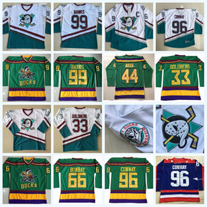 96 Charlie Conway I Mighty Ducks Moive hockey jersey Adam Banche Gordon Bombay Greg Goldberg Reed Dean Portman Tutti cucita IN AZIONE