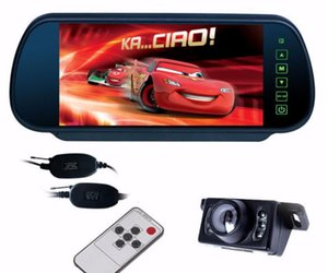 Wireless reverse Parking Assist 7 inch TFT LCD Car Mirror Monitor with camera 6 LED Waterproof Backup Rear View