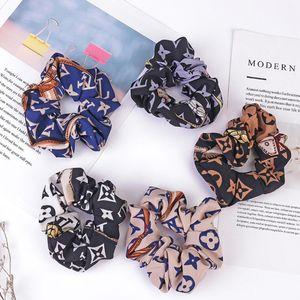 Neue einfache Retro Haarbänder Yoga Haar Gummibänder Mode-Partei-Frauen-Haar-Schmuck Luxus Brief elastisches Haar-Band-Zubehör