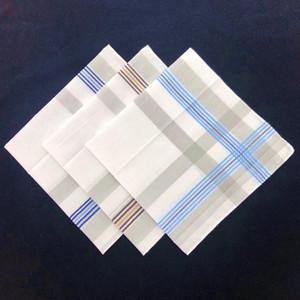12PCS 40 * 40cm de luz en color de algodón para hombres de absorción del sudor pañuelo cuadrado pequeño de la bufanda Refrescante