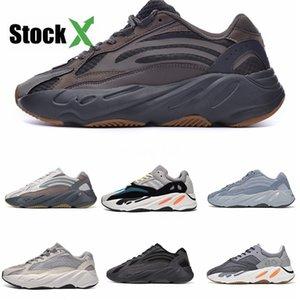 İndirim 700V3 Azael Beyaz Glow Mens Kanye West Karbon Tasarımcı Ayakkabı Işıltılı 700 V3 Runner Kutusu # DSK476 ile Spor Spor ayakkabılar Koşu Ayakkabıları