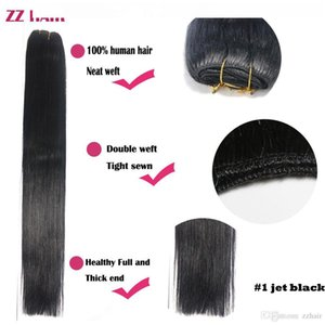 D Zzhair 16 &Quot ;-32 &Quot ;100 %Brazilian Human Hair Remy Hair Weft Weaving 100g Pcs Double Weft Silky Soft All Colors Stock