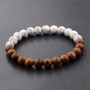 Natural lava volcanic stone fashion beaded elastic bracelet men's jewelry bracelet luxury designer jewelry lover gift