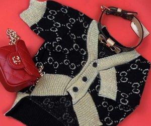 패션 개 카디건 애완 동물 겨울 의류 스웨터 가을 브랜드 블랙 골드 테디 허접 Bomei 큰 카드를 옷