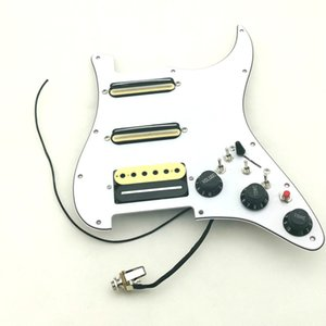 Rare Multifunction Guitar Pickups SSH Humbucker Pickups Guitar Pickguard Wiring Suitable for Str Guitar