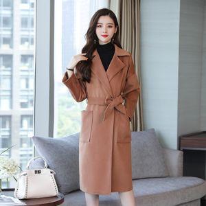 YICIYA tallas grandes mujer de abrigo grande de gran tamaño XXXL 4XL 5XL larga zanja prendas de abrigo soild invierno 2019 ropa de primavera Cazadora