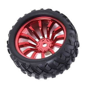 Small Smart Car Model Robot Rubber Tire Wheel For Arduino Car Rim made of nylon material, very strong