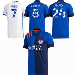 2020 2021 FC سينسيناتي لكرة القدم الفانيلة سينسيناتي كوبو A.CRUZ ADI WASTON المنزل بعيدا 20 21 الرجال والاطفال كرة القدم قميص