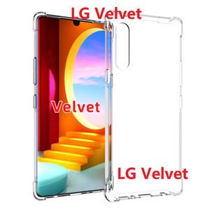 Прозрачные случаи телефона для LG Stylo 4 W10 Stylo 6 W30 Pro / LG Stylo 5 Harmony 4 случая Мягкий гель TPU кожи Clear кремния LG Velvet Обложка
