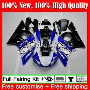 Kit para YAMAHA Azul negro YZF R6 98 YZF600 YZFR6 98 99 00 01 02 88MT4 YZF 600 YZF-R600 YZF-R6 1998 1999 2000 2001 2002 2002 Carenado Carenado