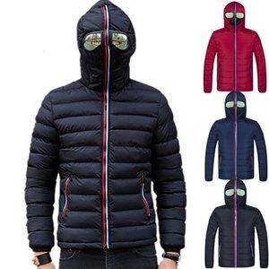 Lawrenceblack Giacche invernali Uomo Parka con occhiali imbottito con cappuccio cappotto Mens Warm Camperas bambini antivento Giacca trapuntata 839 CJ191129