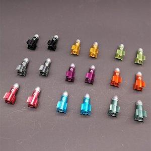 Fouriers Fahrrad-Ventil-Cap VL-PE006 hohe Qualität Aluminium-Amerika Ventilkappen Fahrrad-Reifen-Schutz-Fahrrad-Zubehör