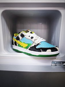 """American ice cream Jerry's x SB Dunk Low Pro QS """"Chunky Dunky"""" dunk series low-top classic wild casual sports shoes 36-46"""