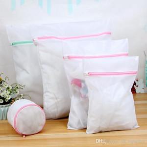 5pcs Mesh Laundry Bags S / M / L / XL Borse 1 Borse a tracolla Lavanderia Camicetta Calze Calze Biancheria intima Cura della biancheria Reggiseno Lingerie Viaggi Lavanderia