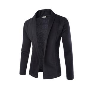 Мода-V-образное вырезовое свитер пальто кардиган свитер мужчина мужчина сплошной цвет тонкий мужской кардиган свитер пальто человек кардиган для мужчин бесплатный капель