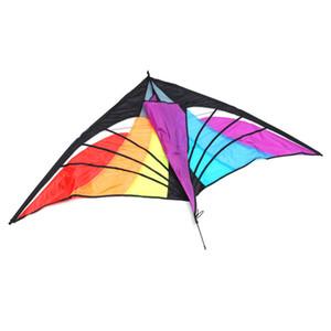 160x90 cm Triângulo Arco-Íris Kite Crianças Ao Ar Livre de Acampamento de Viagem Kites Voando Kits de Brinquedo Sky Surf Props Família Relaxar Divertido Jogo Presentes