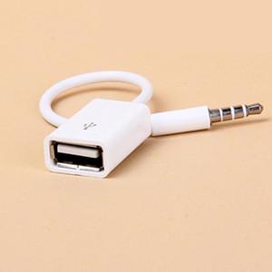 Автомобильный MP3 3,5 мм Мужской AUX аудио разъем Jack к USB 2.0 Женский конвертер Кабель Кабель наушников высокого качества ПВХ для VW SUV R45