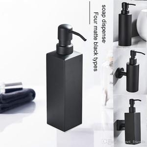 Hotel Wall Hanging americano sabonete Líquido Preto shampoo Garrafa de Banho inoxidável Sanitizer Box Mão Aço