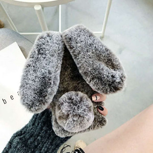 Applicable iphone11pro rabbit plush mobile phone shell apple xsmax warm Samsung note10 cute hair ball phone case