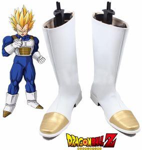 Dragon Ball Z Вегет Белых Длинные сапоги Супер Саян Сон Гок Косплей обувь Halloween выполненный на заказ большого размера 48 WuKong обувь A60713
