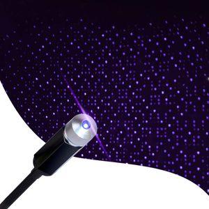 Estrela Projector Night Light, romântico Auto Roof Lights, ajustável USB Night Light para o quarto, de carro, do partido, Tecto