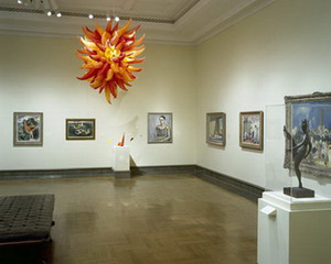 Dormitorio Chihuly Art Glass Chandelier Luz de techo Cadena soplada a mano Lámpara colgante para museo Iglesia Decoración